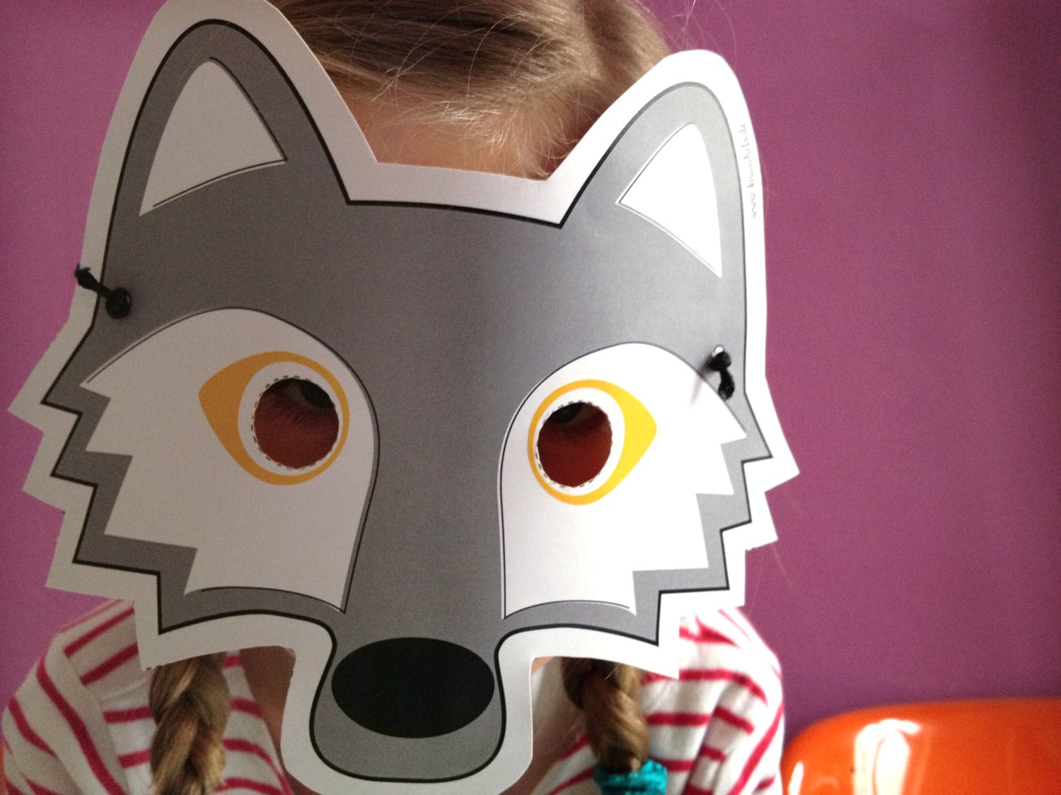 image relating to Printable Wolf Mask identified as Wolf Mask Template Printable. printable wolf mask template