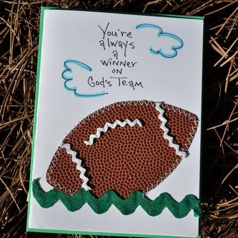 Religious Greeting Card  You're Always A Winner On God's Team
