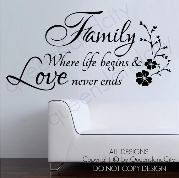 Download Items similar to Family Where Life Begins & Love Never ...