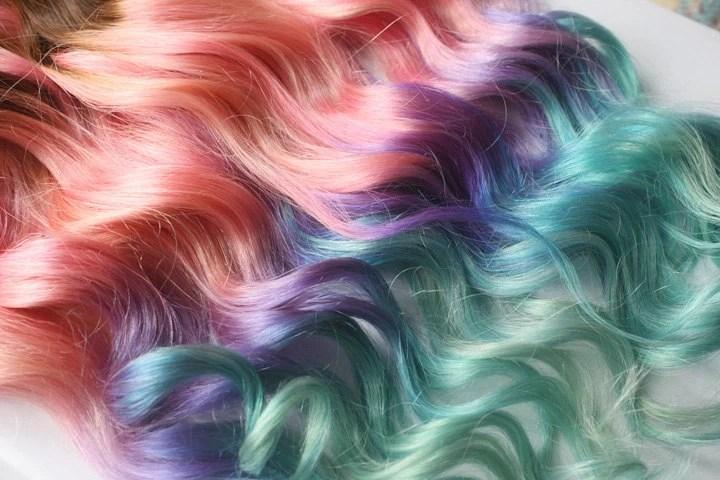 Clip In Pastel Hair Extensions Pink Hair Hair Weave Wide
