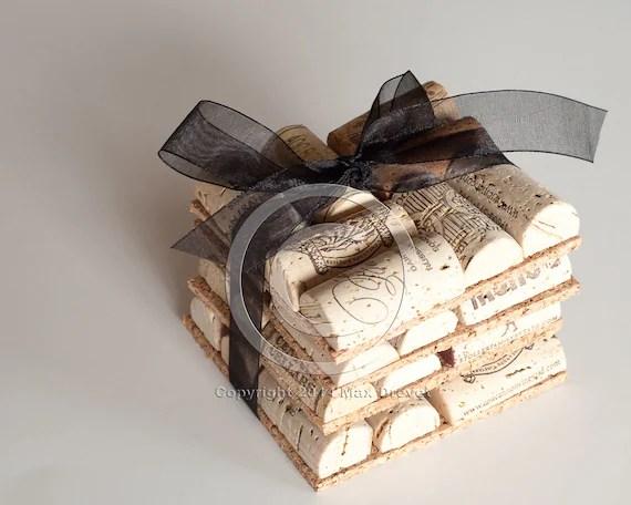 Wine Cork Coasters Set Of 4 Wine Cork Crafts Wedding Favors