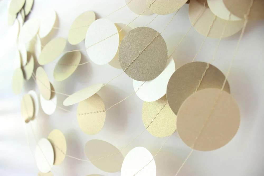 Wedding Garland Gold & Ivory Garland 10 ft, Gold Garland, Christmas Garland, Bridal Shower, Baby Shower, Gold Christmas Decor