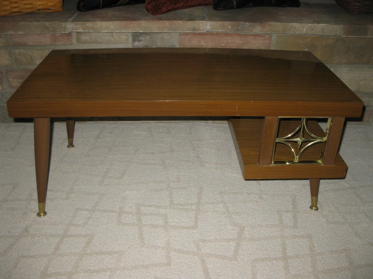 AWESOME 2 Tier Mid Century Formica Coffee Table End