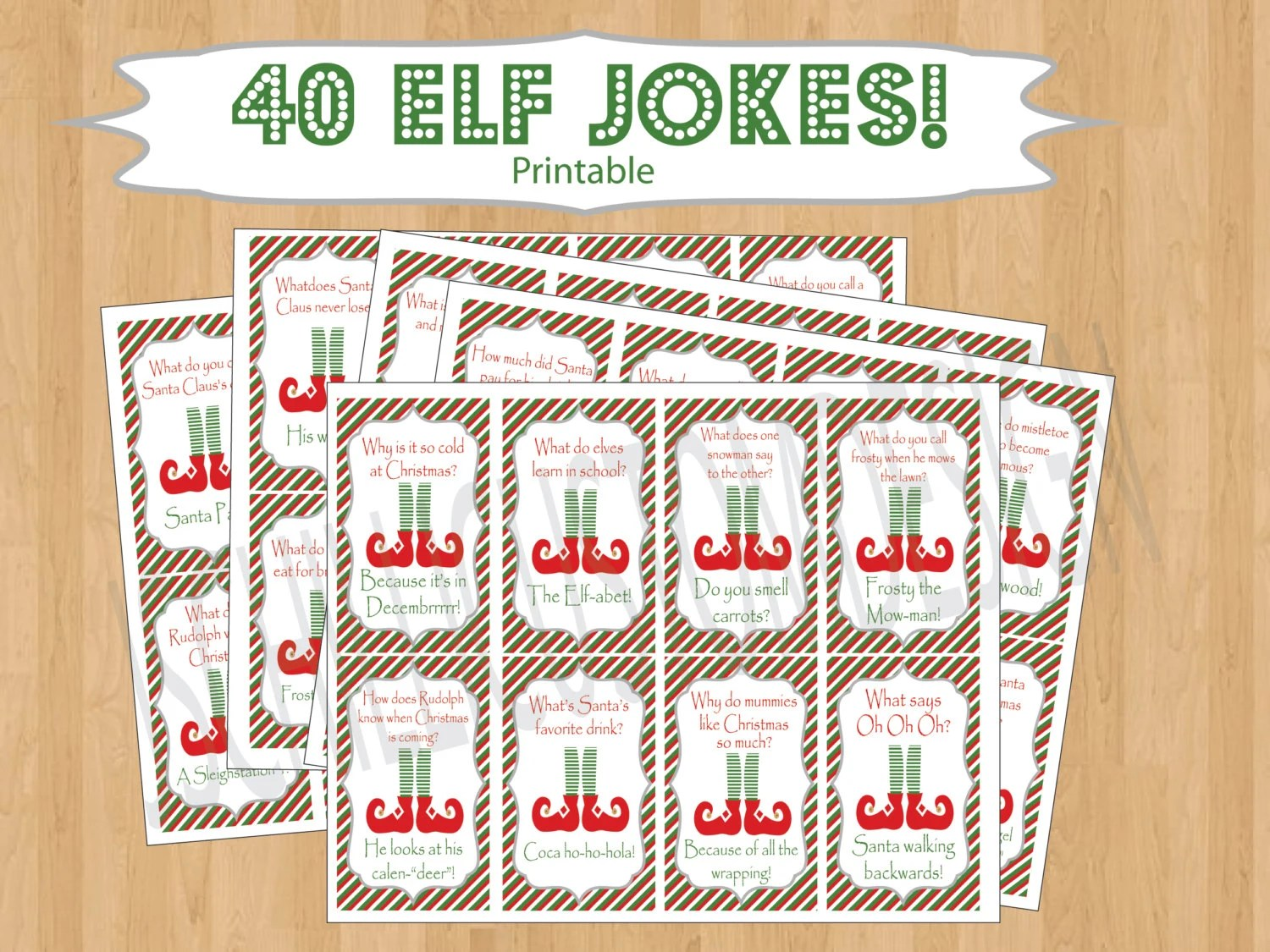 Printable Shelf Elf Inspired Jokes Amp By Jschillicustomdesign