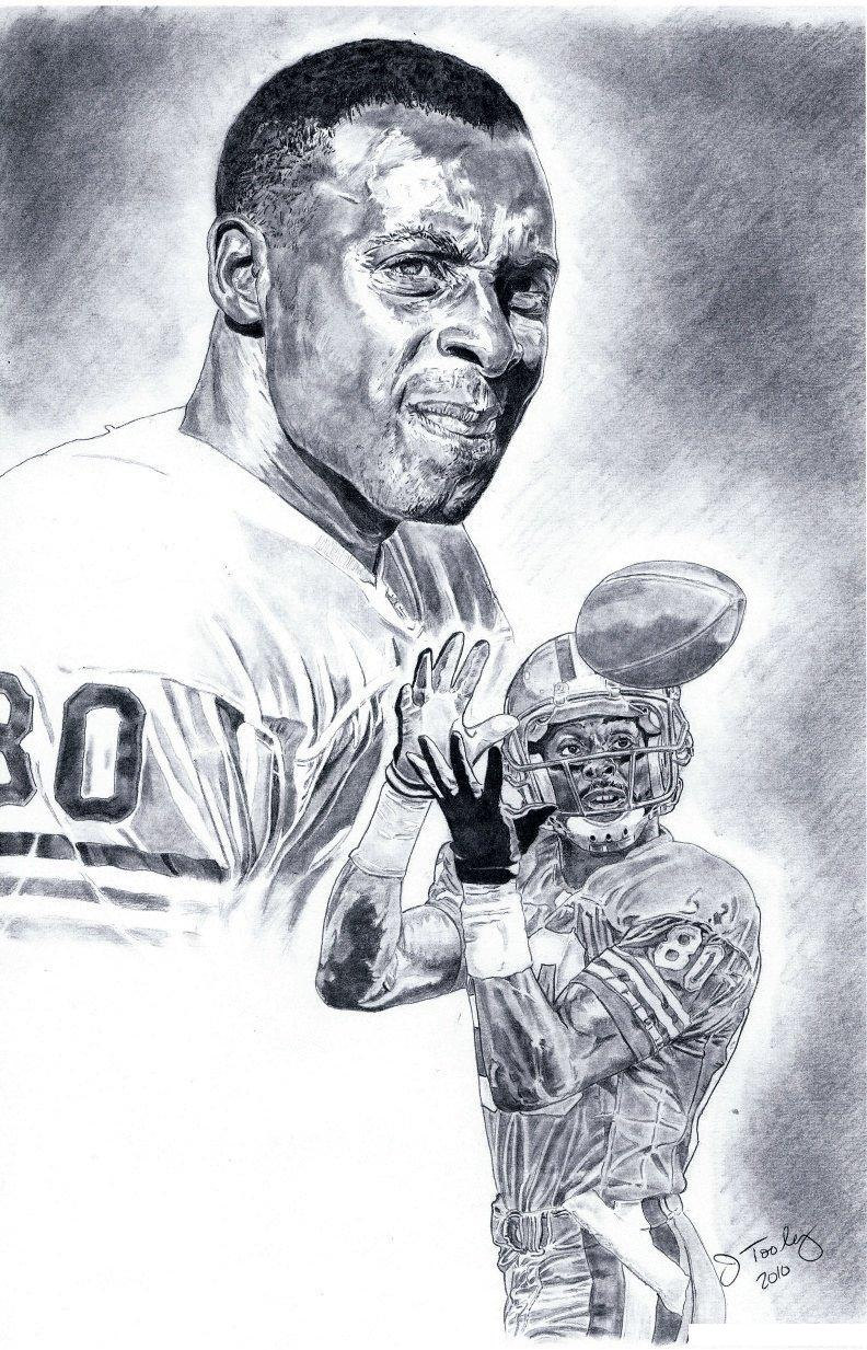 jerry rice of san francisco 49ers poster art