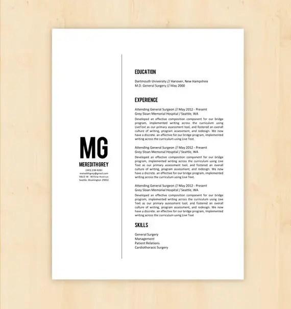 resume design instant download word document docx doc format