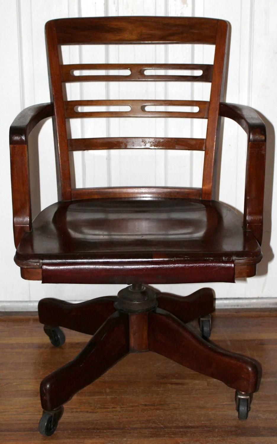 Vintage Clark Amp Gibby Banker Chair By Johnson Chair Co Solid