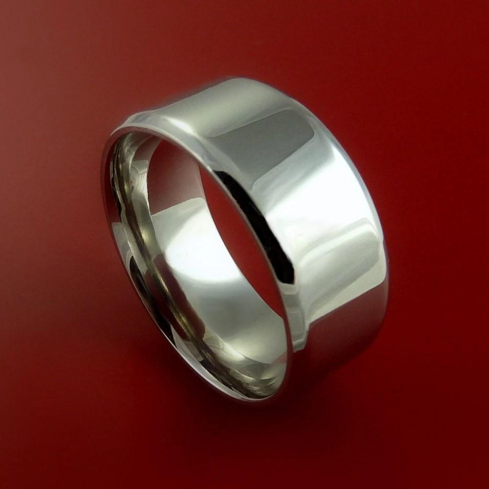 Cobalt Chrome Wedding Band Engagement Ring Made To Any Sizing