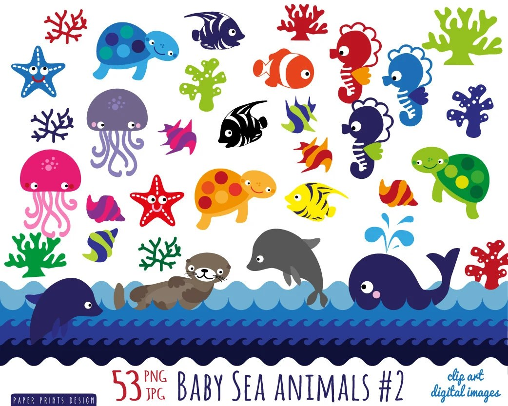 sea animal clip art 53 baby sea animals clipart