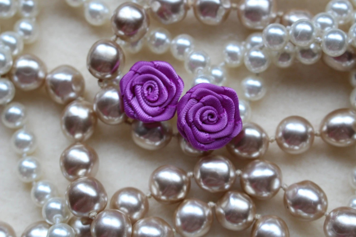 Rose earrings in Orchid - ThatsMyFlair
