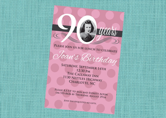 texte carte invitation anniversaire 90
