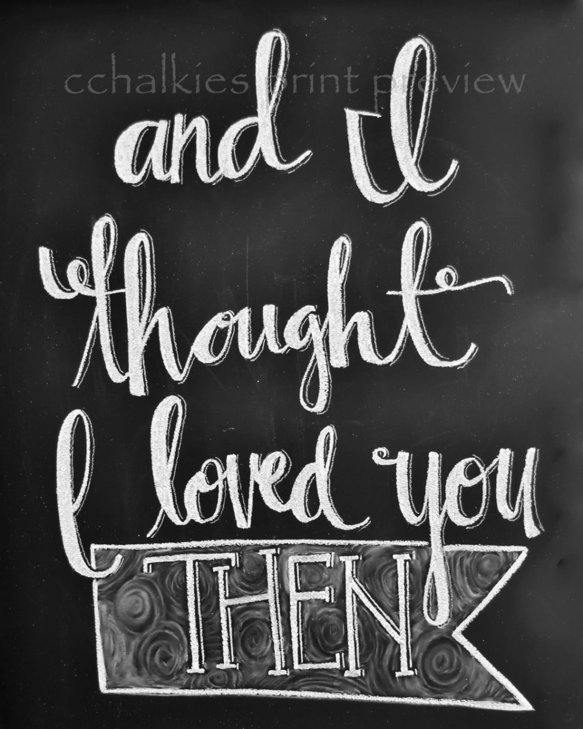 Download Chalkboard Print-8x10-I Thought I Loved You Then