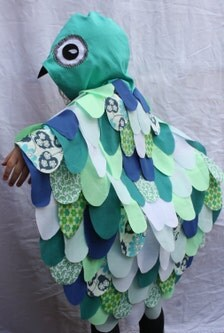 Aqua Owl Cape Childrens Costume Girls Bird Fancy Dress