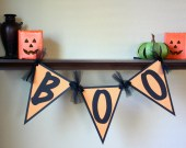 "Halloween ""BOO""  Mini Banner"