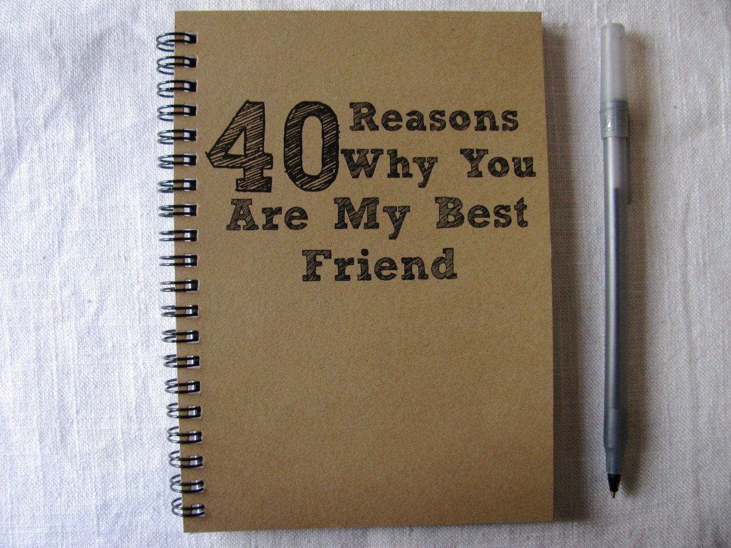 40 Reasons Why You Are My Best Friend 5 X 7 By Journalingjane