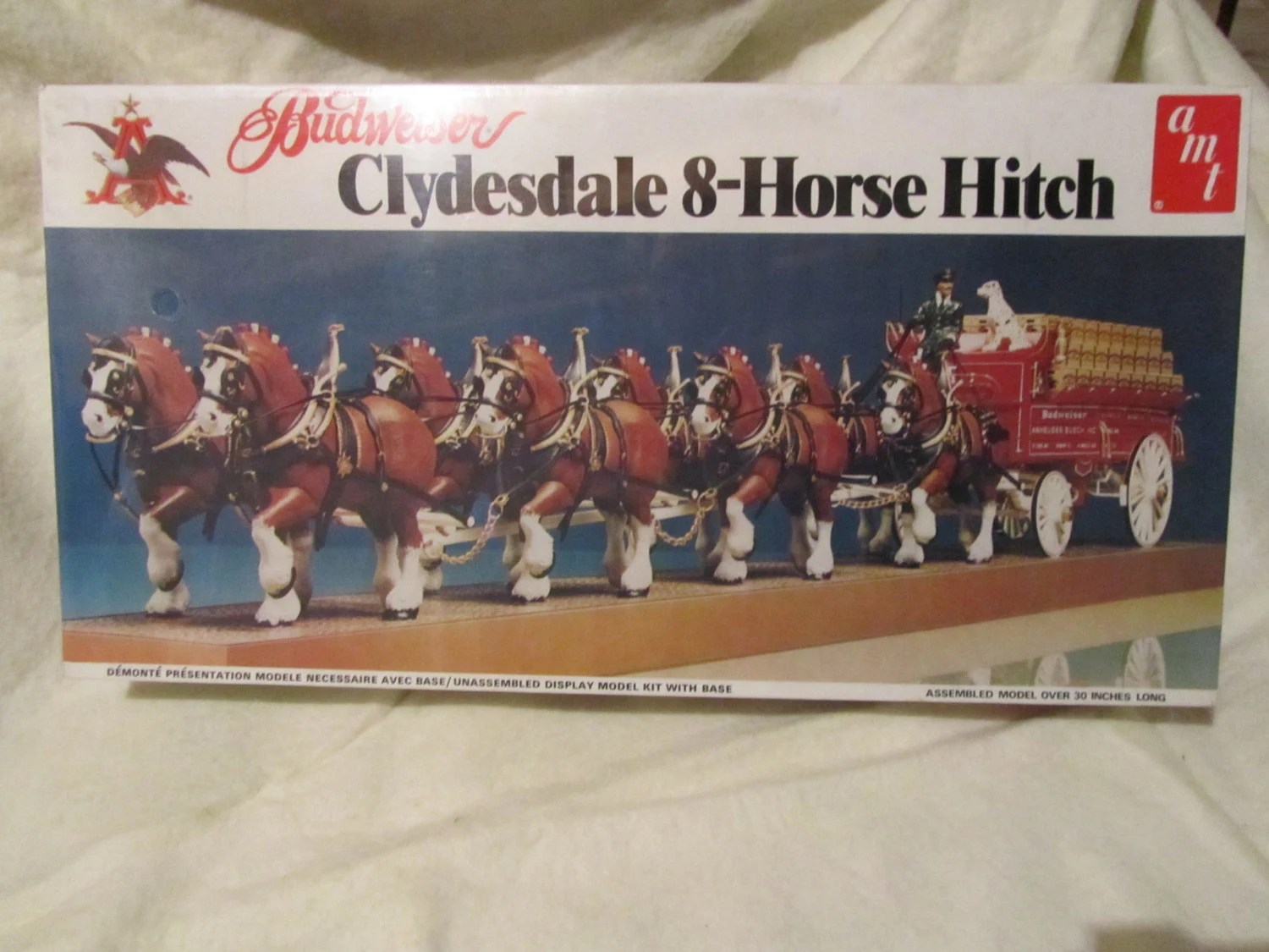 Budweiser Clydesdale 8 Horse Hitch Model Kit AMT 7702