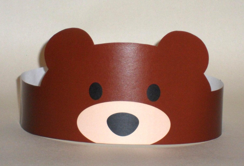 Bear Paper Crown Printable
