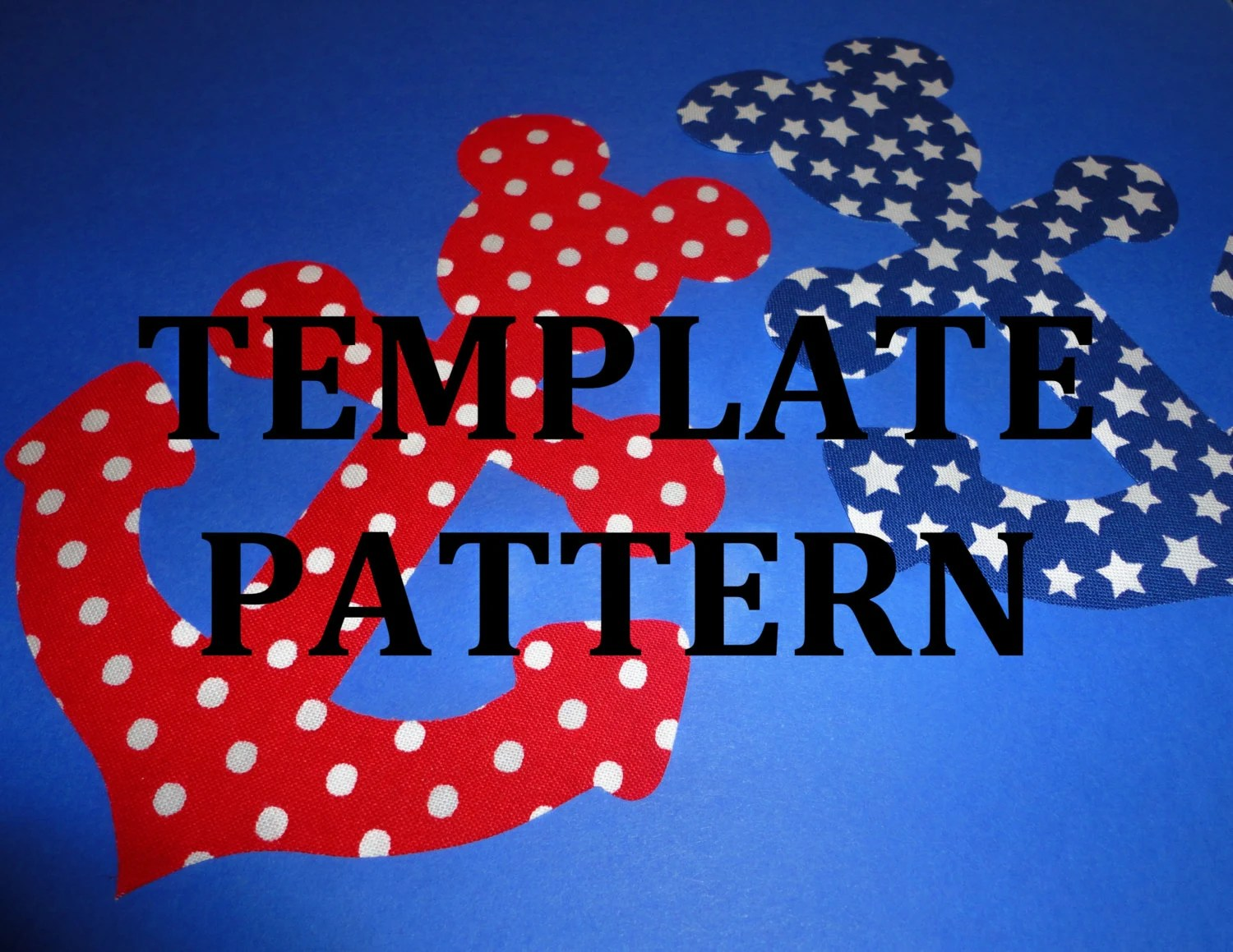 Applique Pdf TEMPLATE Pattern Only MICKEY Mouse
