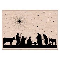 Nativity - Woodblock Craft Stamp (K5817) - iluvdesign