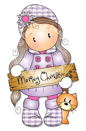 Digital Digi Merry Christmas Chloe Stamp Makes Cute