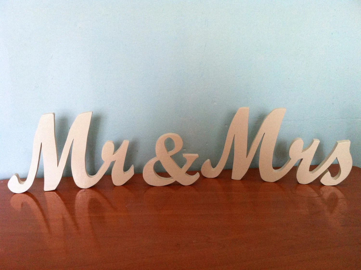 Wooden Letters 1.5 Mr & Mrs Personalized Wedding By