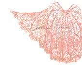 Hand Crocheted Wrap Crochet Shawl Pink Shawl Purple Handmade in USA - MoonlitMemory