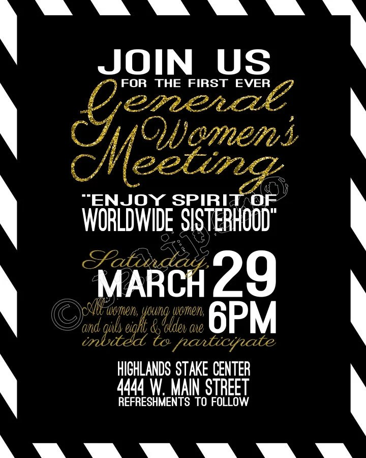 Items Similar To LDS General Womens Meeting Flyer