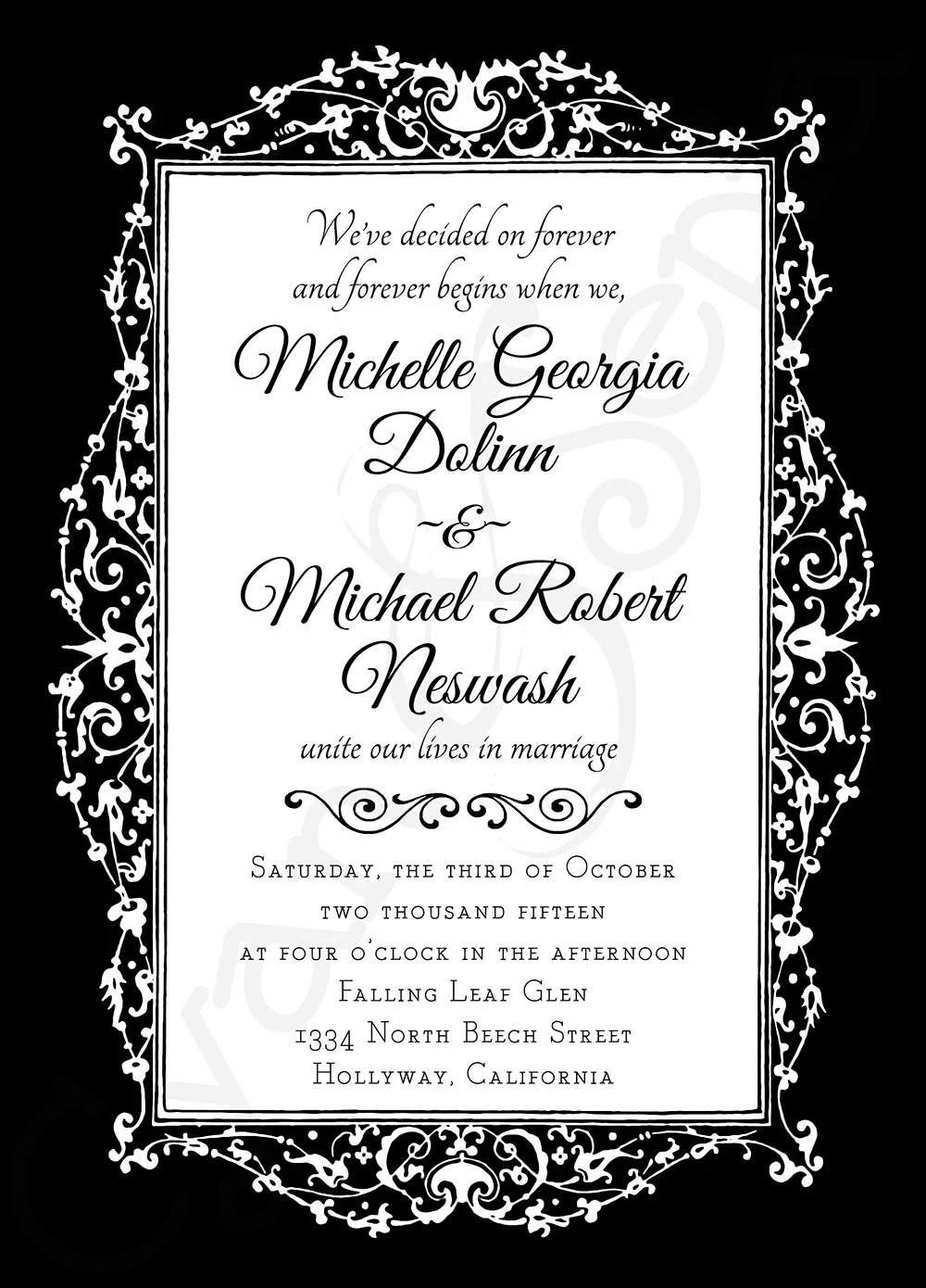 Ornate Gothic Frame Printable 5x7 Wedding Or By CyanAndSepia
