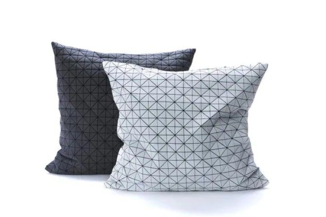 Set of two pillows on discount, items on sale, 19.5X19.5 pillows, contemporary fabric pillows, geometric fabric pillow, home decor accessor