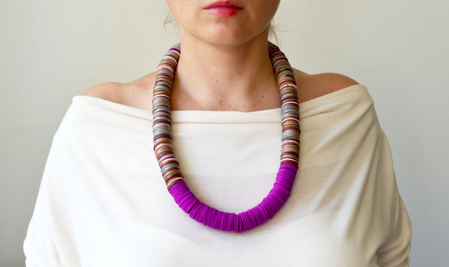 Radiant Orchid Statement Necklace - IKKX