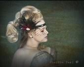Flapper Headband, Gatsby Headband,  Downton Abbey, Headband, 1920s Head Piece, Art Deco Headband, Rhinestone Mask, Color Choice