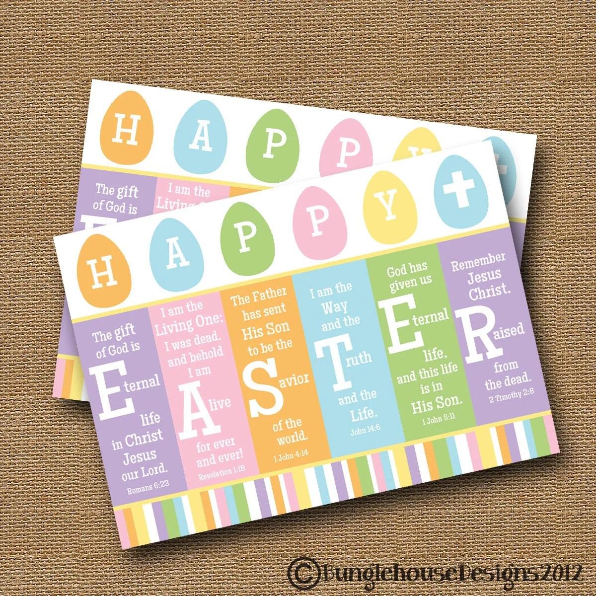 Scripture Easter Card Printable Easter Card Diy Printable