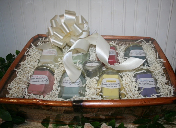 Candle Bridal Basket With Candle Poem For Bridal Shower