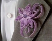 Radiant Orchid Wedding, Wisteria Boutonniere, Wisteria Purple Buttonhole, Wisteria Wedding, Purple Haze - MiaettiaCreations