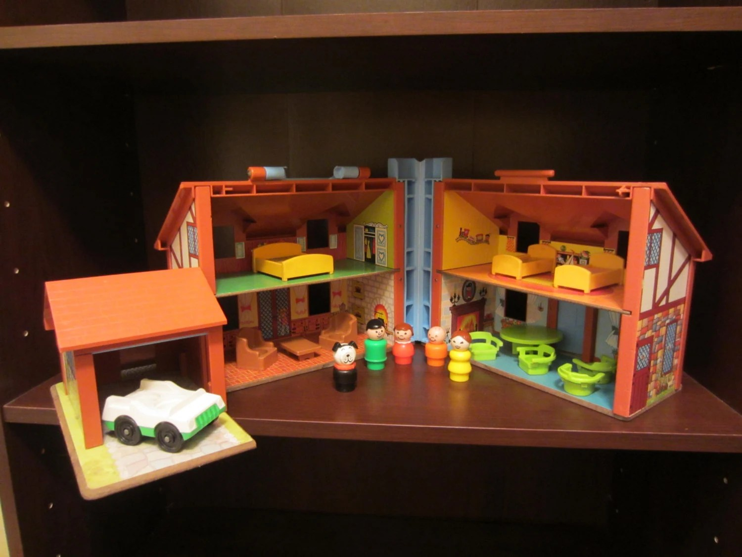 Vintage FISHER PRICE Little People Play Family House Set 952