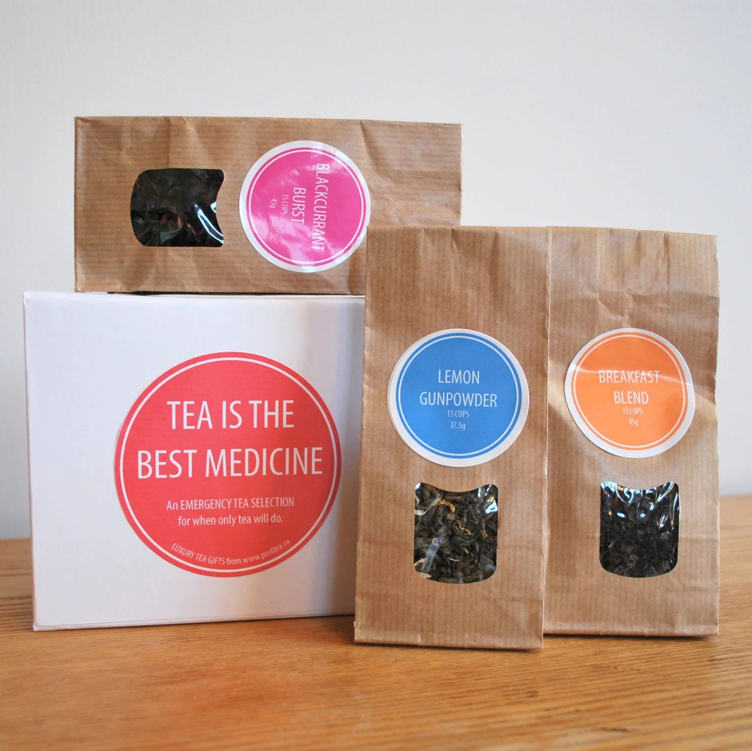 Tea is the Best Medicine Gift Box, Get Well Soon, Feel Better, Thinking of You, Teas Blended in Britain. - PostTea