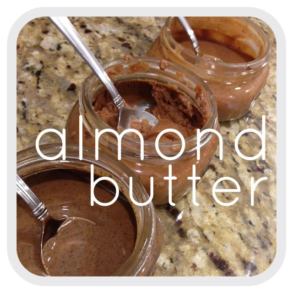 8 oz. natural homemade ALMOND NUT BUTTER 8oz- Raw Vegan Paleo Gluten-free Snacks IngrEATients