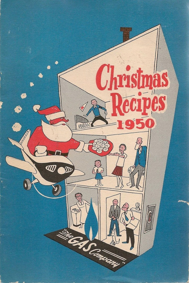 VINTAGE COOK BOOK Christmas Recipes 1950 The Gas By