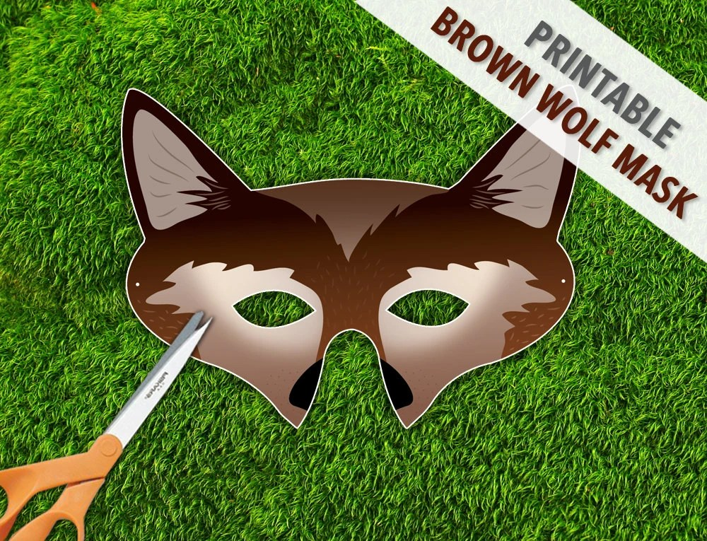 graphic about Printable Wolf Mask referred to as Wolf Mask Template Printable. printable wolf mask template