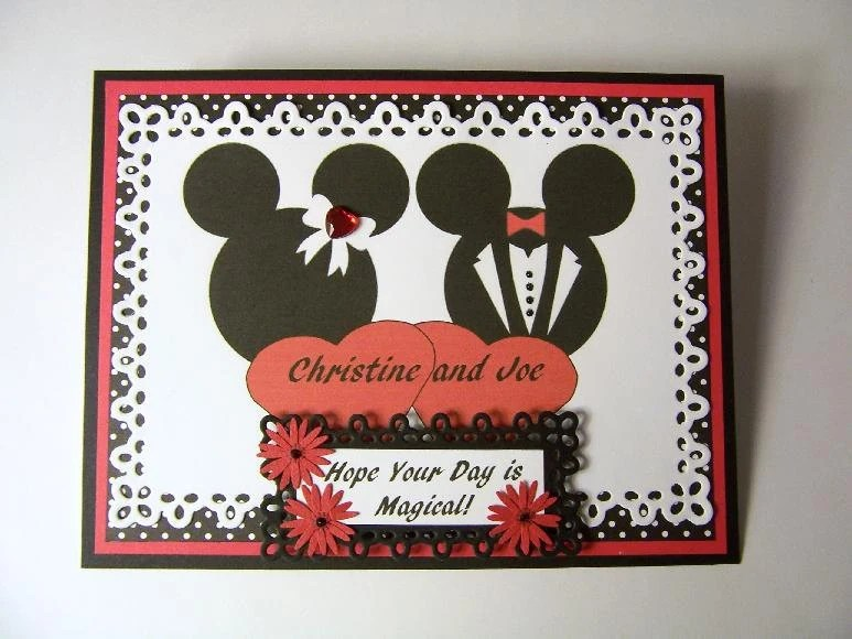 Minnie Mickey Mouse PERSONALIZED Wedding Or Anniversary