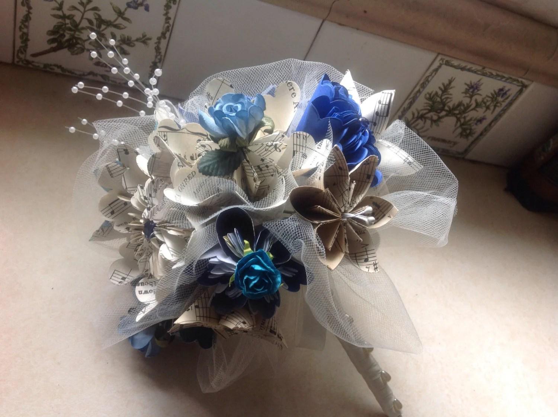 Kusudama Wedding Bouquet Includes 8 Origami Paper Flowers