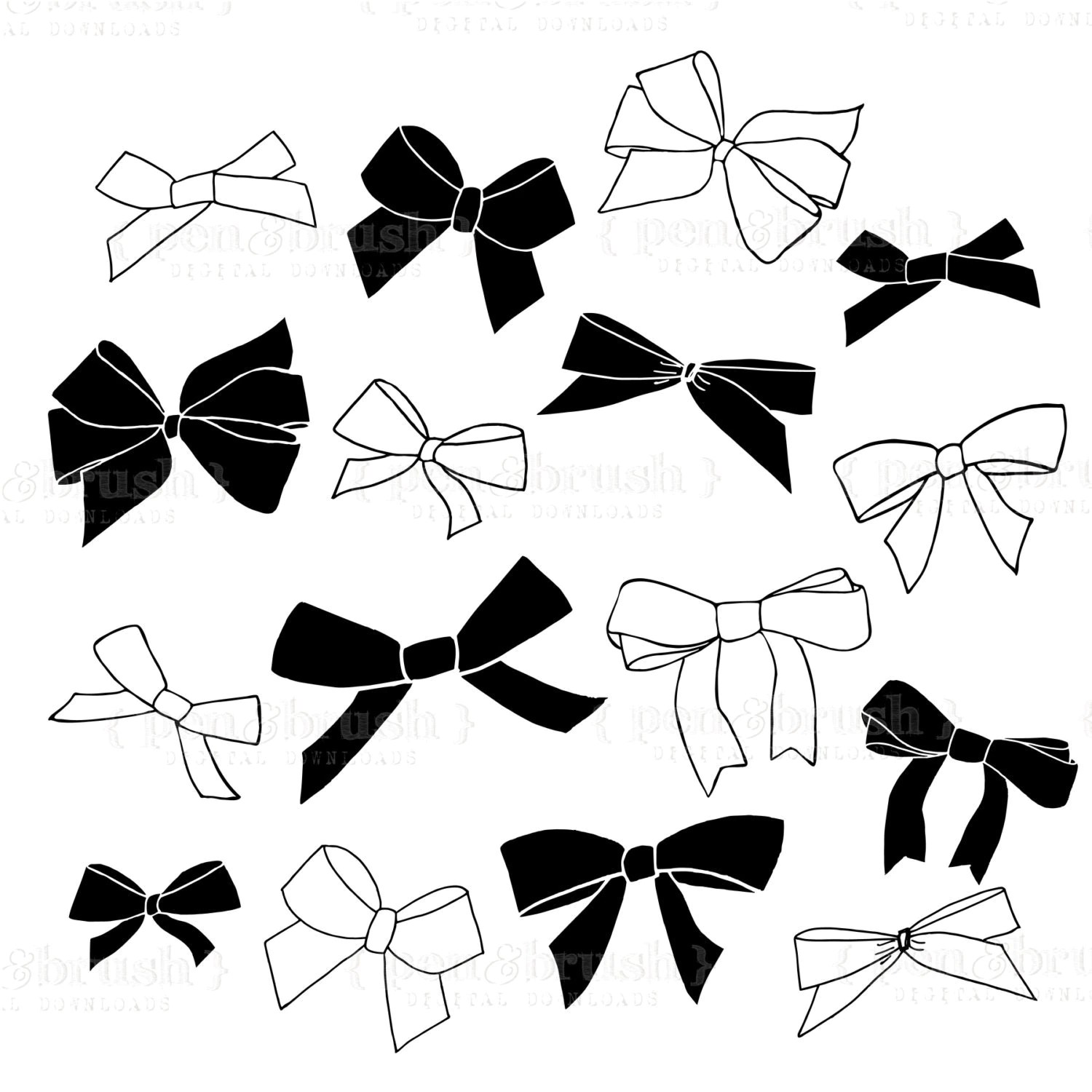 Clip Art Chalkboard Bows Amp Ribbons Plus Photoshop