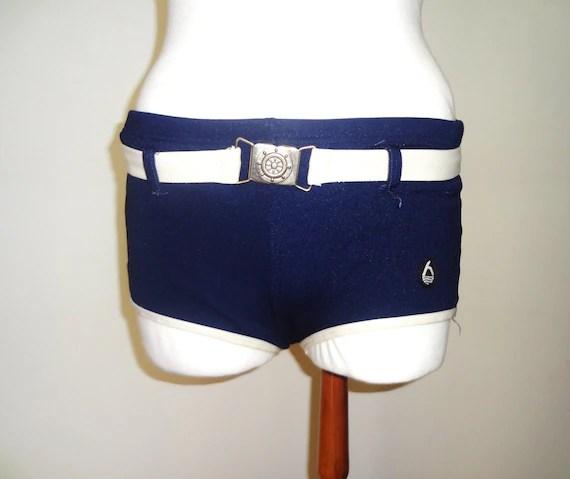 Vintage Dark Blue Swimming Shorts