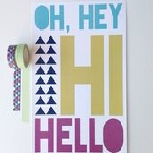 8x10 Oh Hey Hi Hello Print-- Wall Art - PaperandPleats