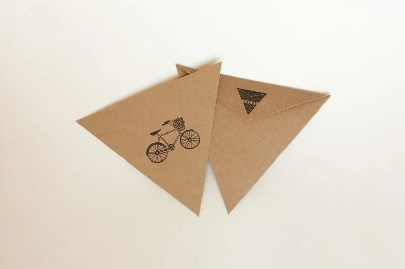triangle press bicycle card