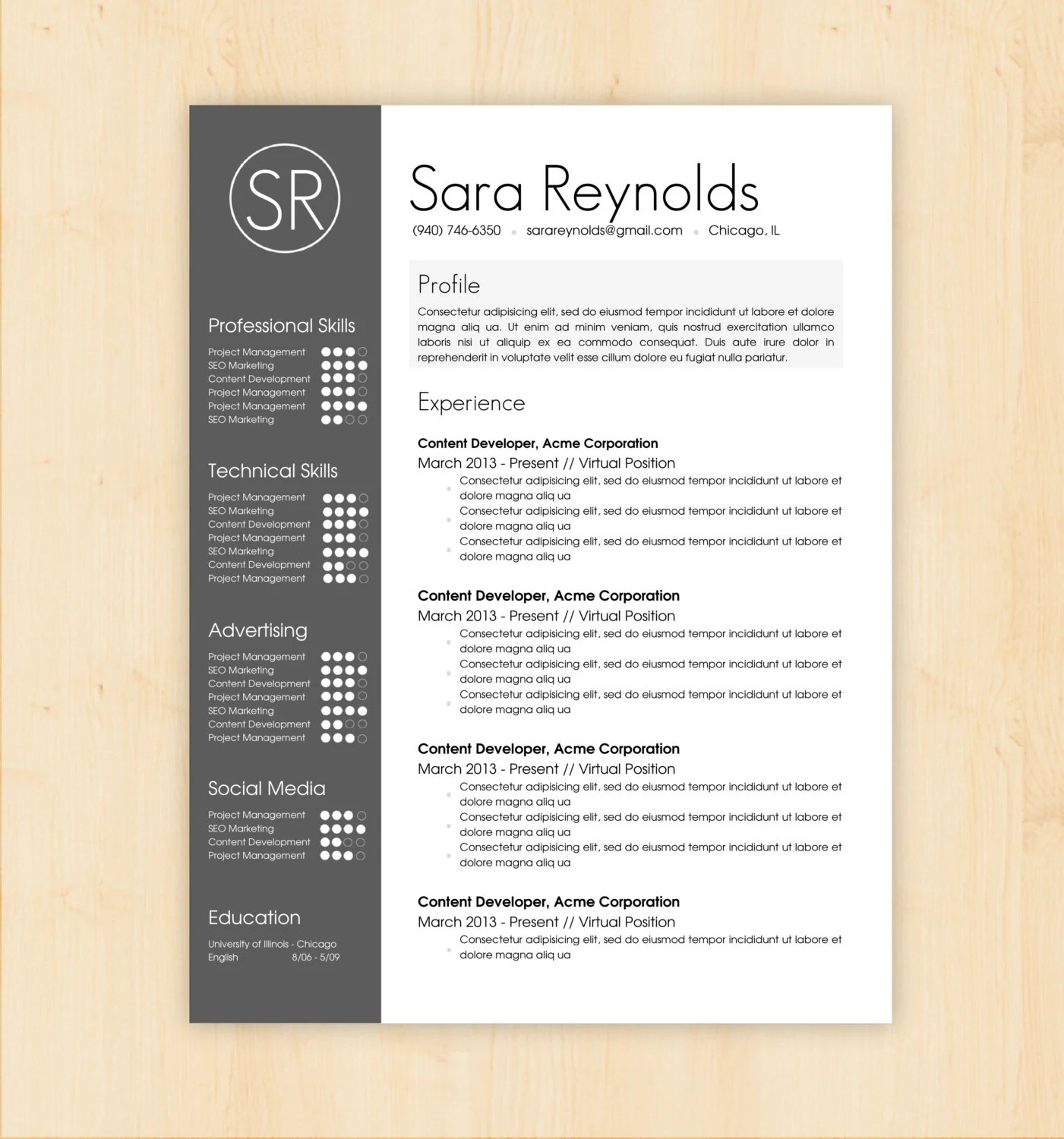 Word Doc Resume – Pard