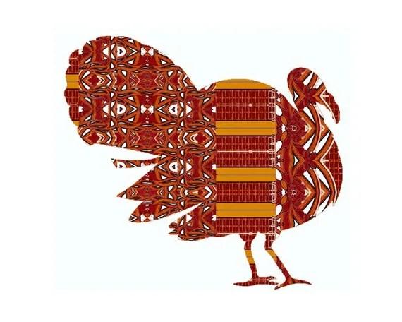 Pop Art Turkey Painting, Farm Animals Whimsical Art,  10x8 art print, abstract turkey art, pop art turkey, wild animal, wild bird