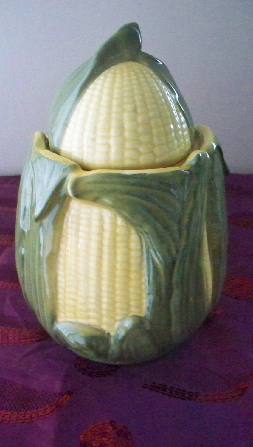 RESERVED 4 GlenShawnee Pottery Corn Cookie Jar Yellow And