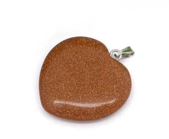Items Similar To 5 Gemstone Hearts Brown With Gold Glitter