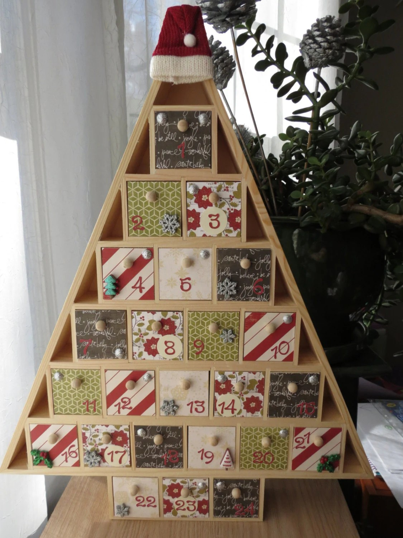 Christmas Tree Advent Calendar Wooden By Queenvannacreations